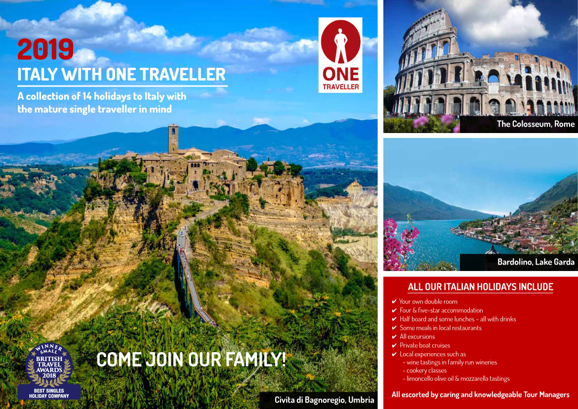 Italy with One Traveller - 2019 - Only available for download